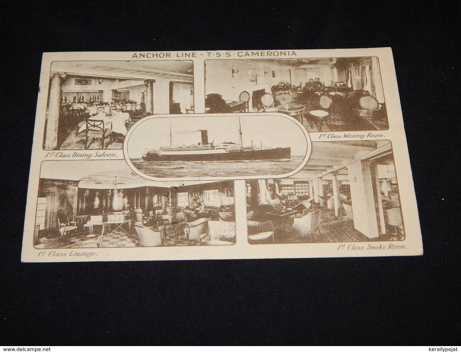 Steamer T.S.S. Cameronia Anchor Line Multi-picture Card -21__(20387) - Paquebote