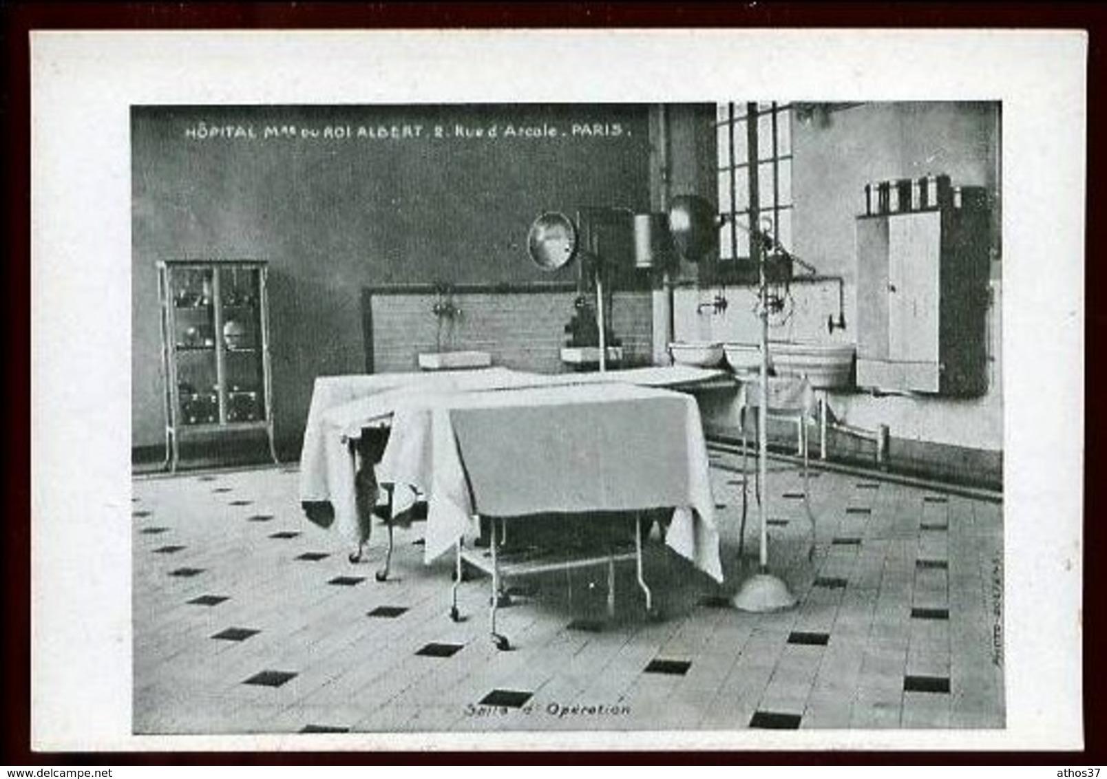 Hôpital Militaire Du ROI ALBERT - 2 Rue D' Arcole, Paris - Salle D' Opération - (Beau Plan) - Health, Hospitals