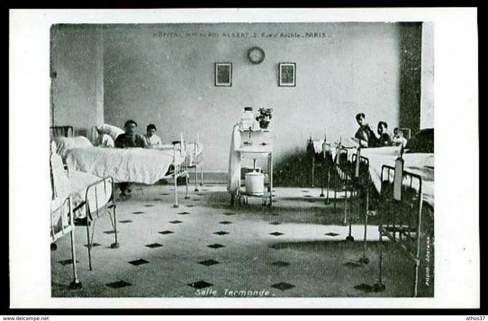 Hôpital Militaire Du ROI ALBERT - 2 Rue D' Arcole, Paris - Salle Termonde - (Beau Plan Animé) - Salute, Ospedali
