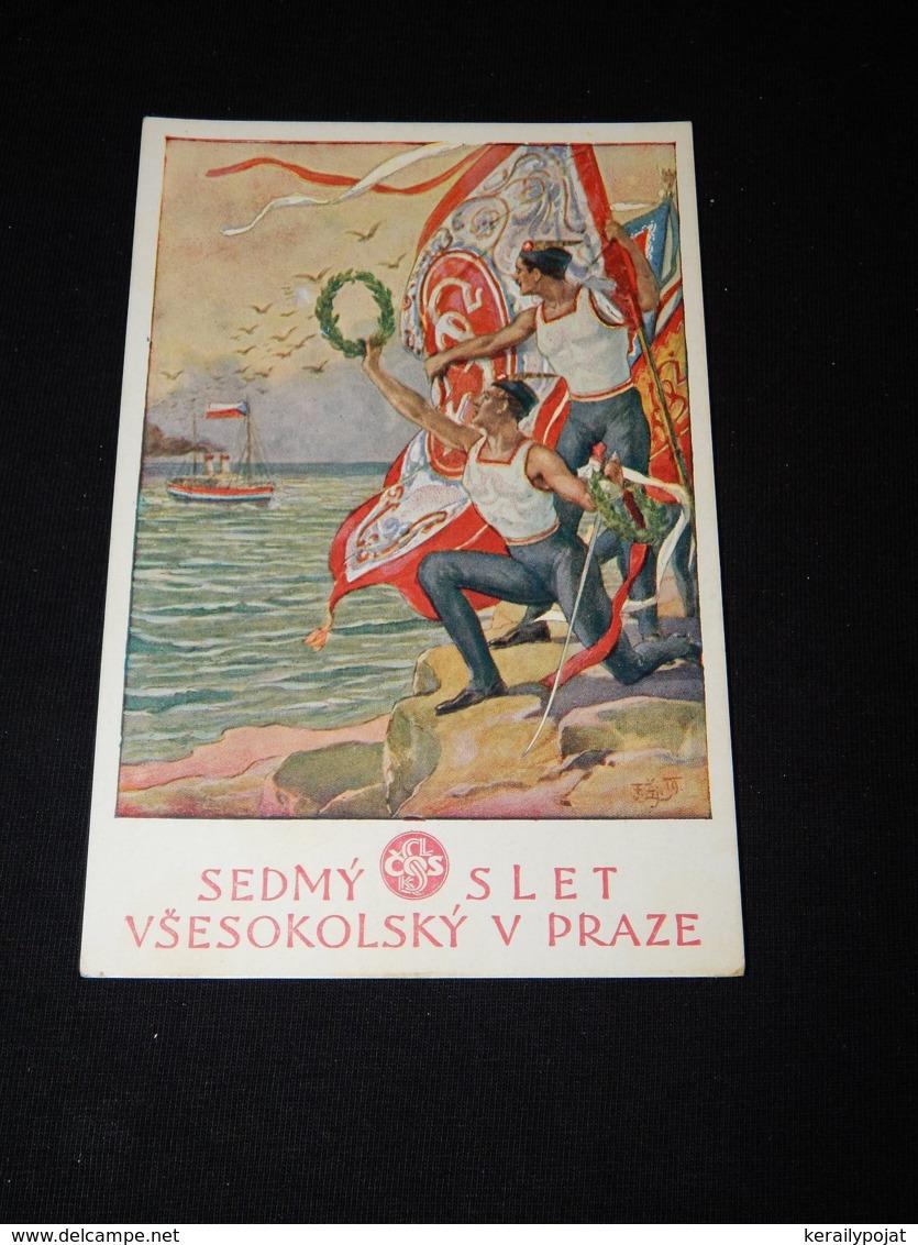Sokol Fr. Zeniska Slet Vsesokolsky Praze__(22998) - Cartes Postales