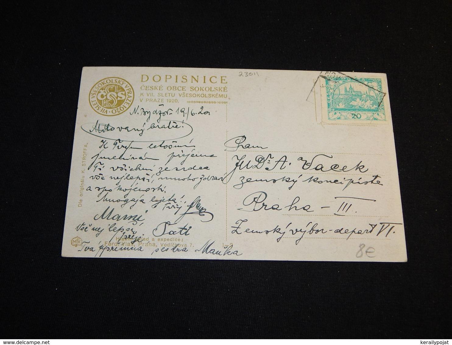 Sokol K.Stroffa Slet Vsesokolsky Sedmy -20__(23011) - Postkaarten