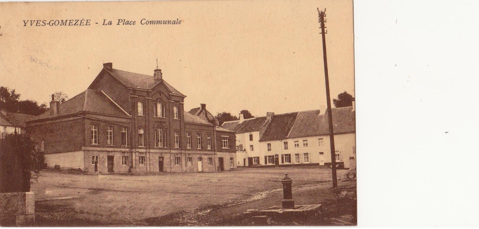 Yves-Gomezée: La Place Communale Et Tir à L' Arc. - Walcourt