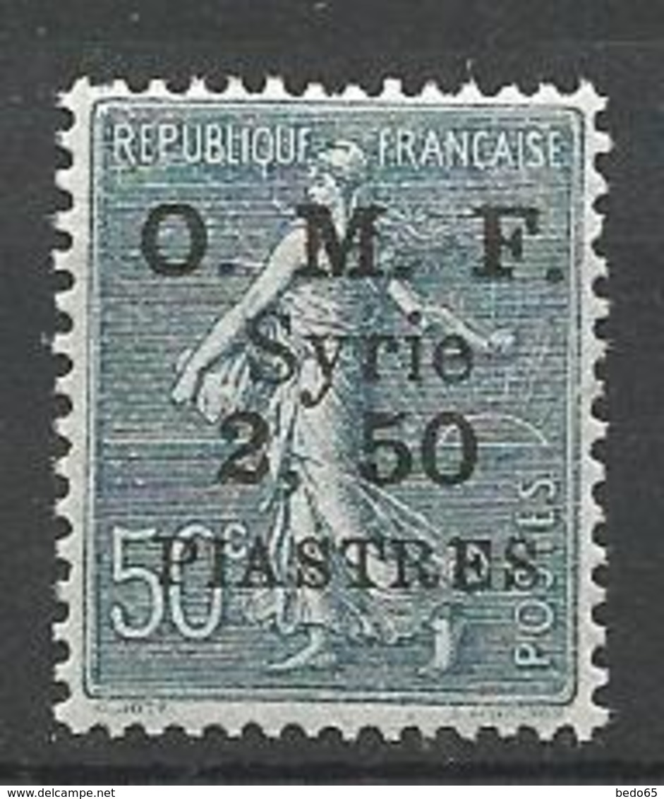 SYRIE  N° 87 TYPE 2 / 2 ET 50 Espacée NEUF** LUXE SANS CHARNIERE / MNH - Syria (1919-1945)