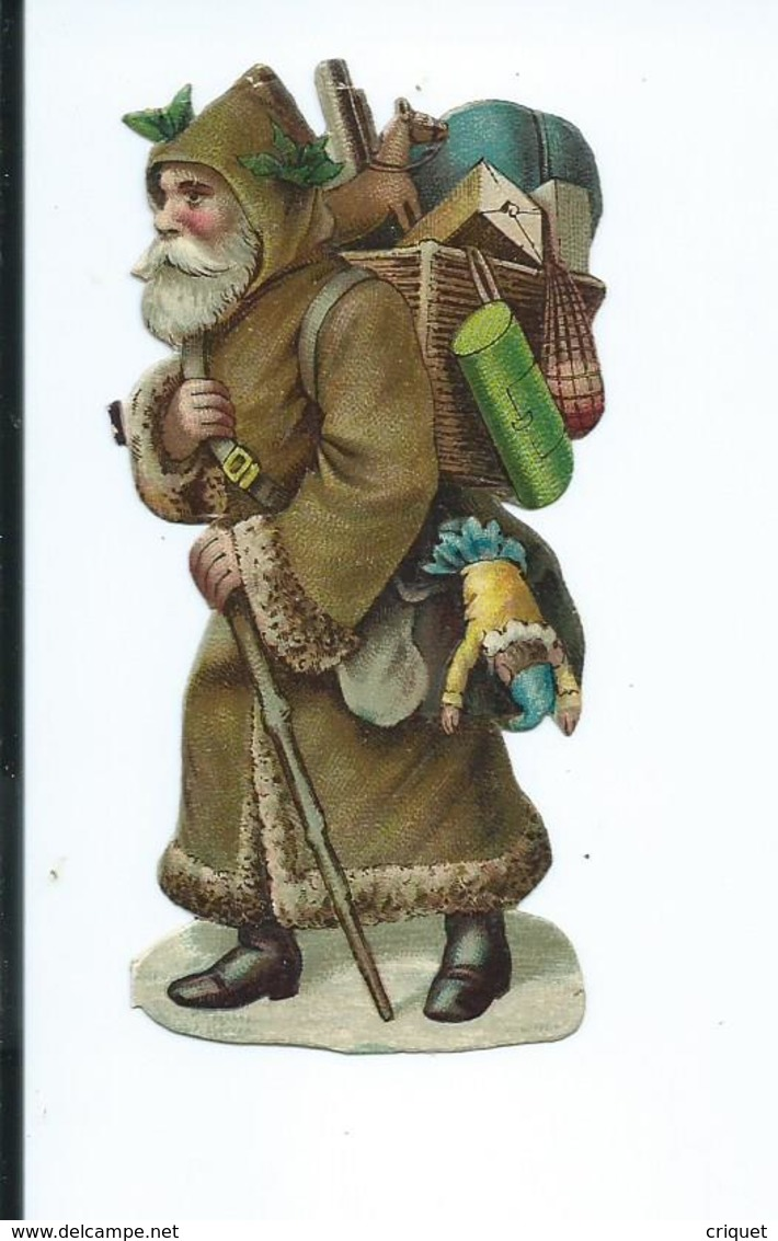 Ancienne Chromo-découpi, Père-Noël, Santa Klaus, N° 1 - Christmas
