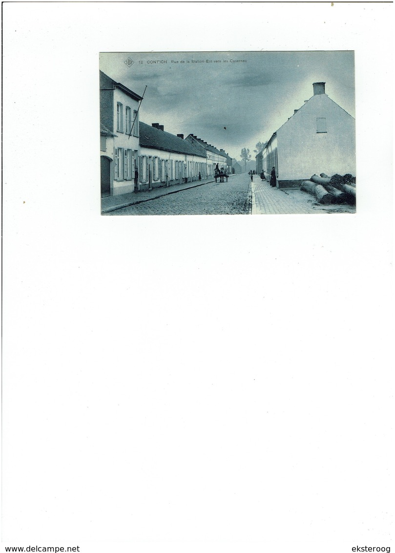 Kontich - 12  Rue De La Station Est Vers La Casernes - Kontich