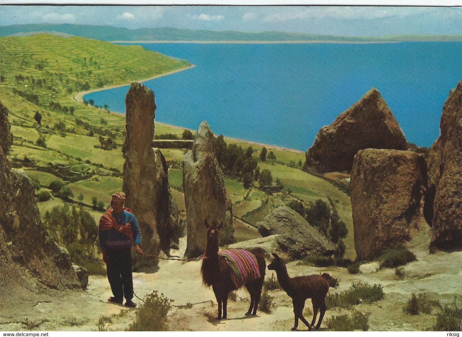 Bolivia - La Horca Del Inca Copacabana.  Sent To Denmark  1976     B-3367 - Bolivia