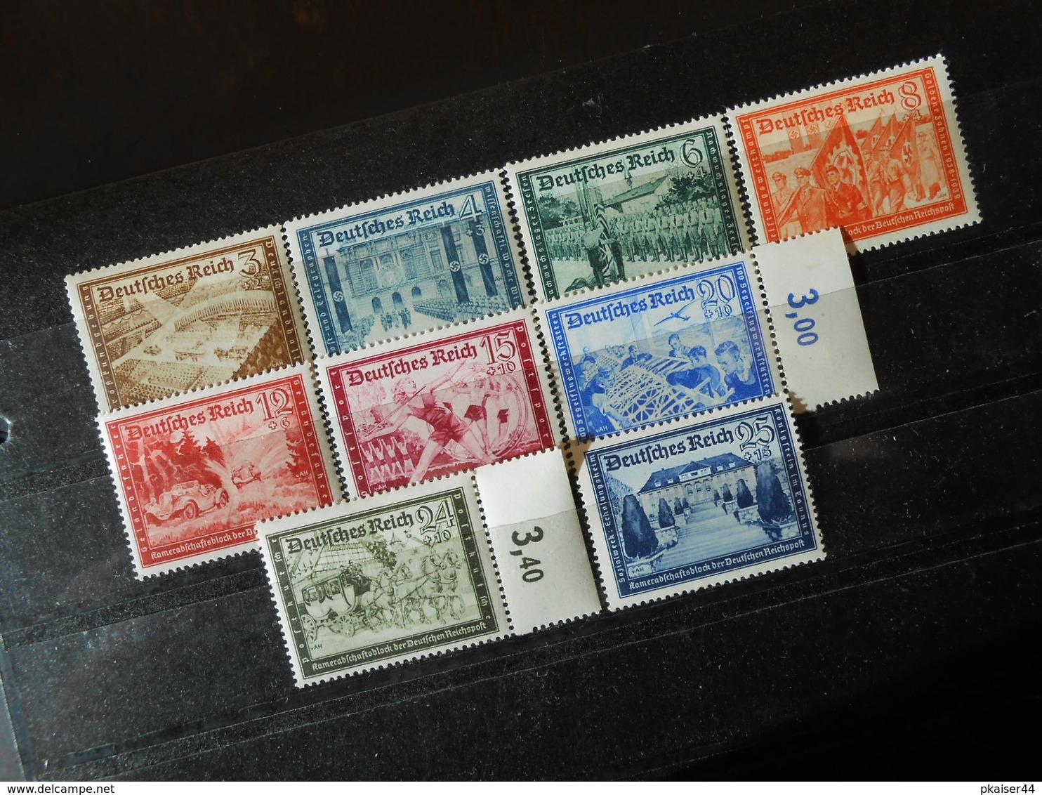 D.R.Mi 702*/703*/705*/706*/708*/709*/711*/712*/713*MLH - 1939 - Mi 20,50 € - Germany
