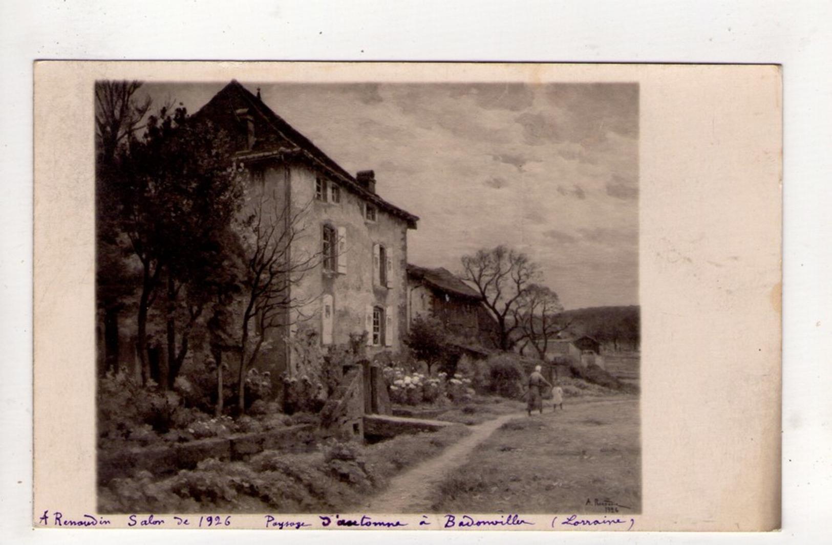 CPA-NB1879-RENAUDIN SALON DE 1926 PAYSAGE D AUTOMNE A BADONVILLER - Peintures & Tableaux