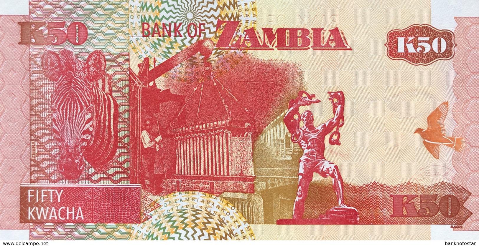 Zambia 50 Kwacha, P-37d (2003) - UNC - Signature 12 - Zambie