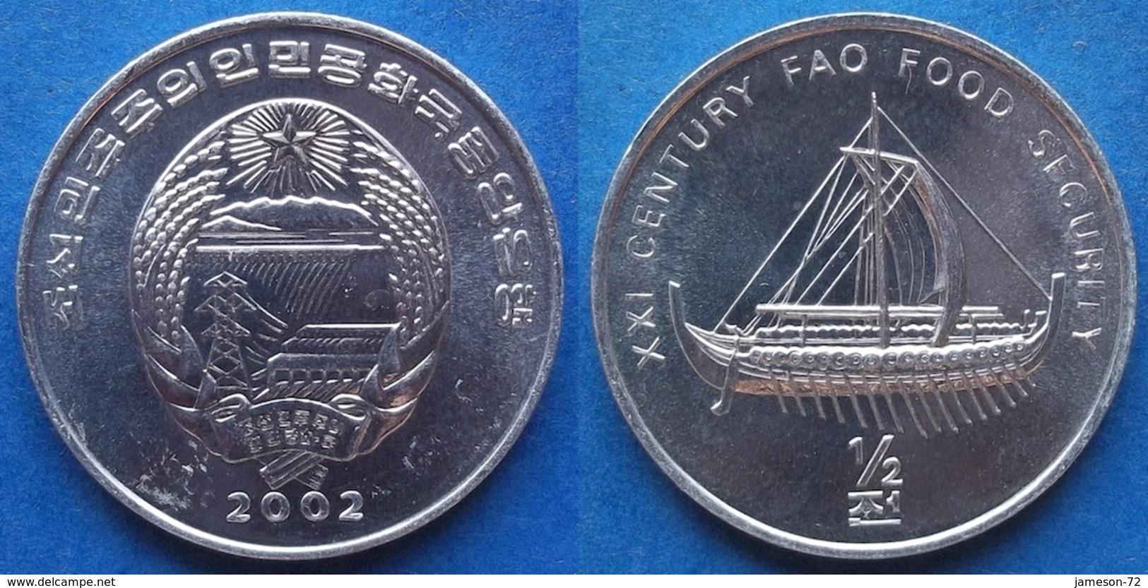 "NORTH KOREA - 1/2 Chon 2002 ""archaic Ship"" KM# 192 Democratic Peoples Republic (1948) - Edelweiss Coins - Korea, North"