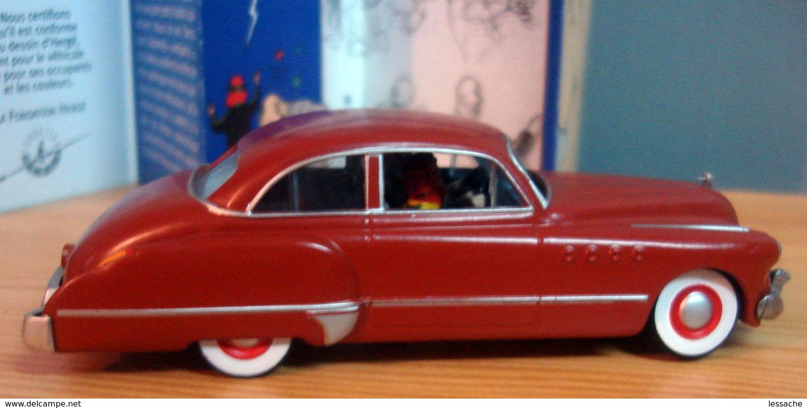 VOITURE L'AMERICAINE ROUGE BUICK ROADMASTER DE 1949, 1/43, Tintin Au Pays De L' Or Noir - Tintin