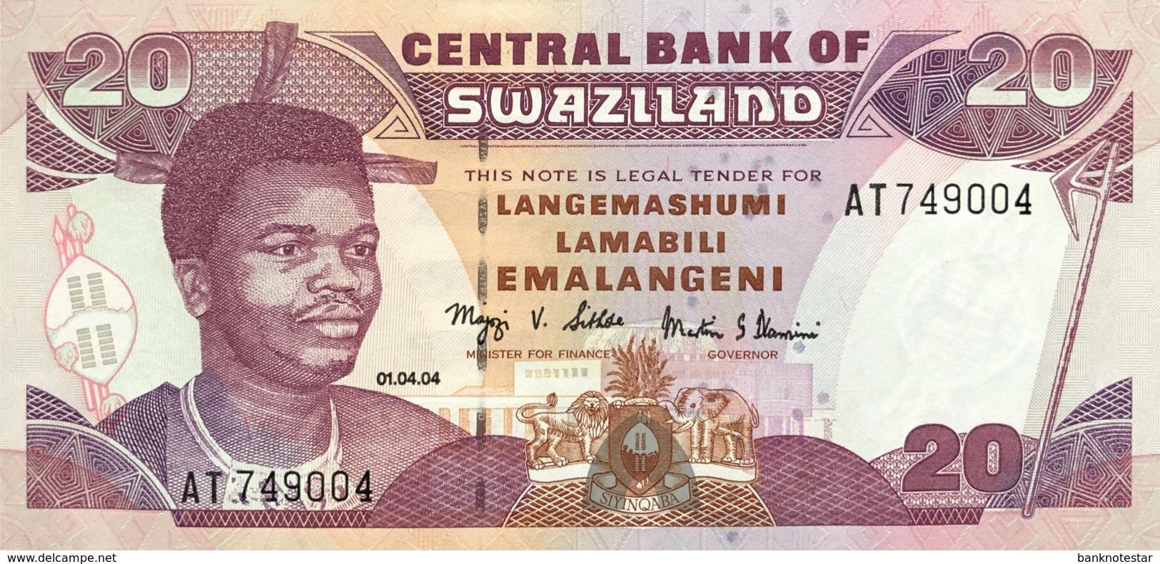 Swaziland 20 Emalangeni, P-30b (2004) - UNC - Swaziland