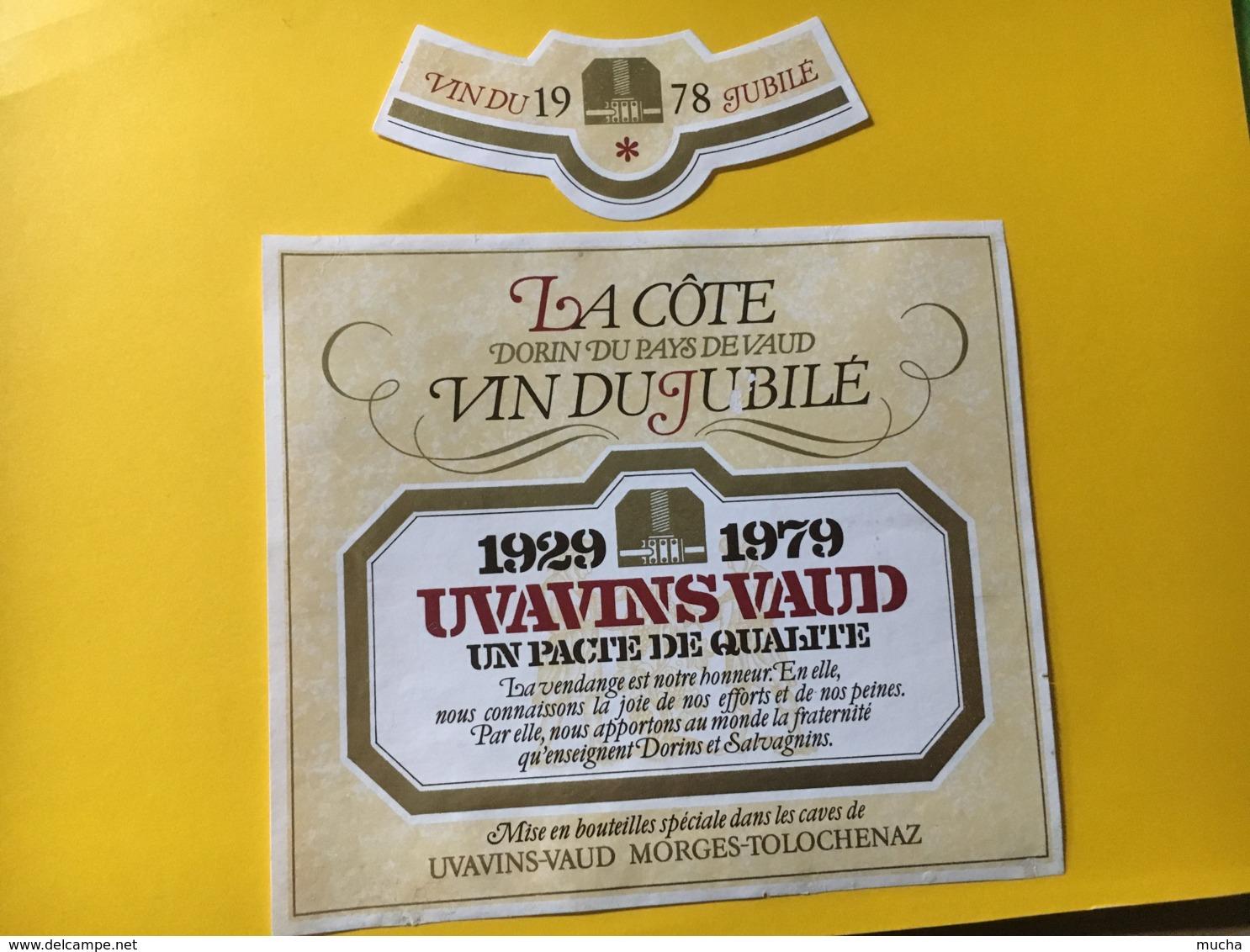 9209 - Vin Du Jubilé 1929-1979  Uvavins Morges Suisse 2 étquettes - Etiquettes