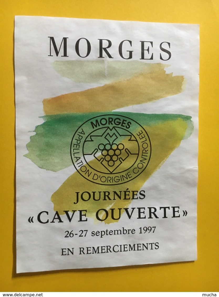 """9215  - Journées """"cave Ouverte"""" Septembre 1997 Morges Suisse - Etiquettes"""