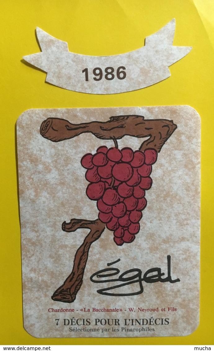 9219  - 7 Egal 7 Décis Pour L'indécis Chardonne 1986  Suisse 2 étiquettes - Etiquettes