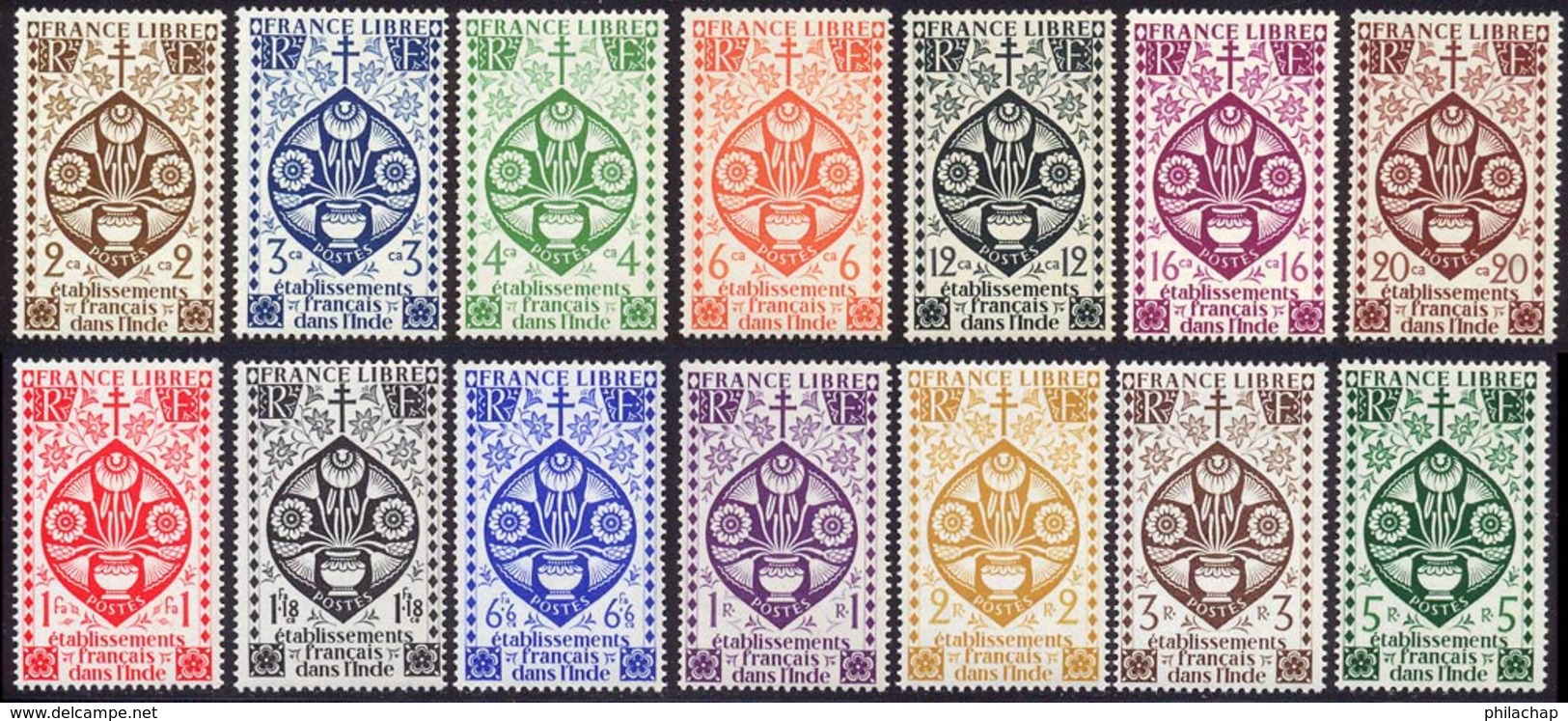 Inde 1942 Yvert 217 / 230 ** TB Bord De Feuille - Unused Stamps
