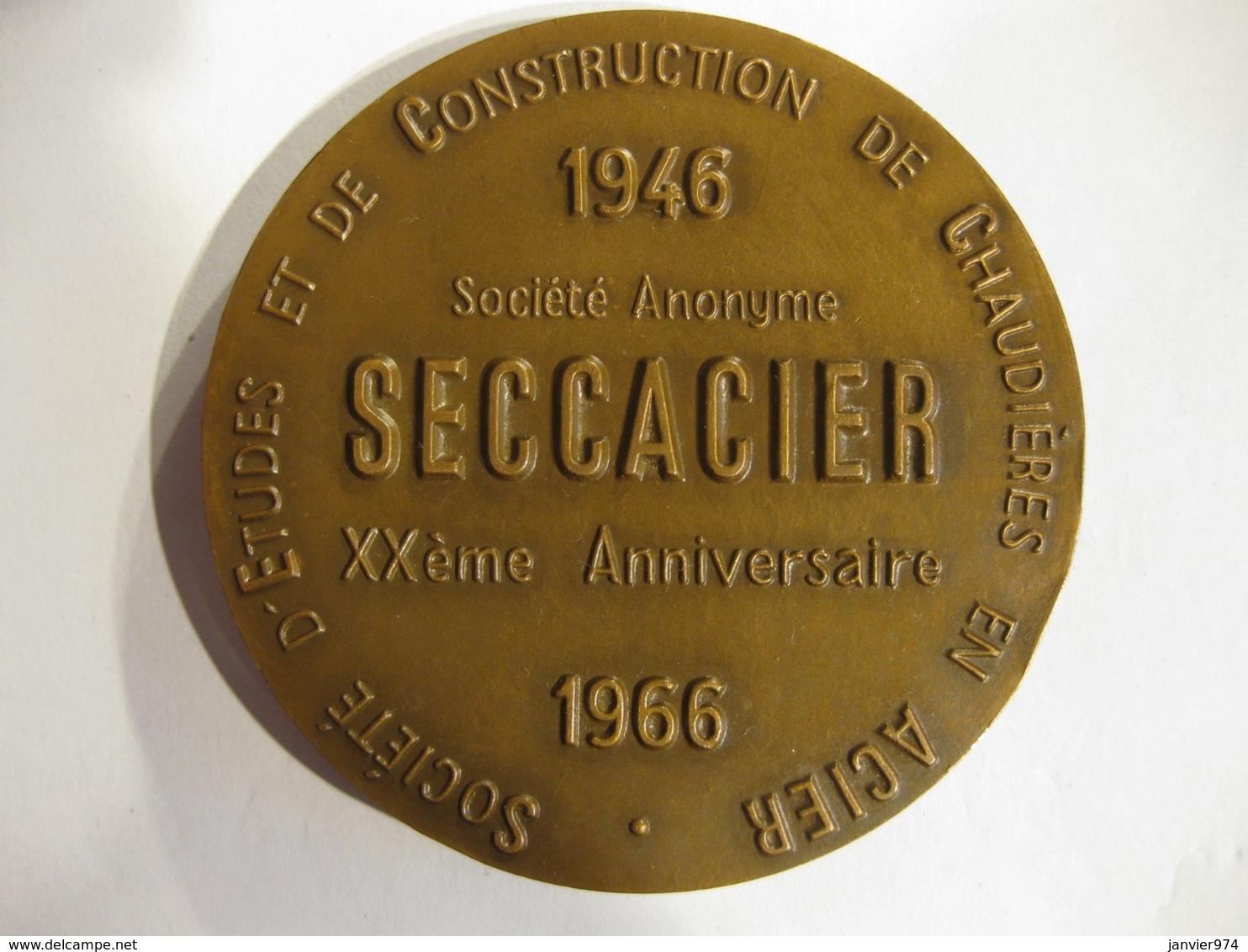 Medaille VULCAIN  Société SECCACIER Chaudières En Acier 20 Ans 1946-1966 - Other