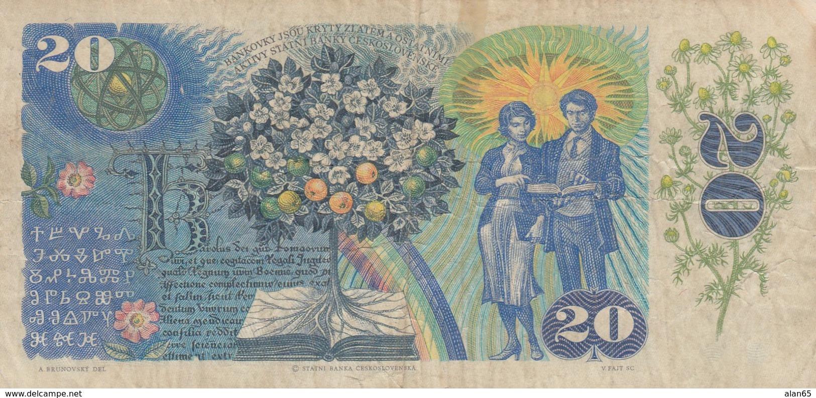 Czechoslovakia #95 20 Korun1988 Banknote - Tchécoslovaquie