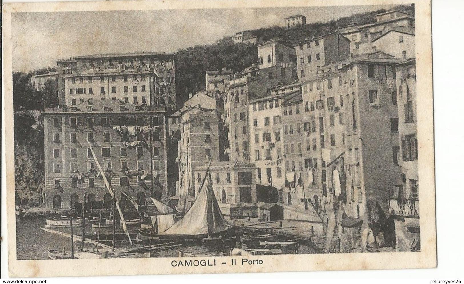 CPA , Italia,N° 39765, Camogli- Il Porto-  Ed. Avegno Maria - Autres Villes
