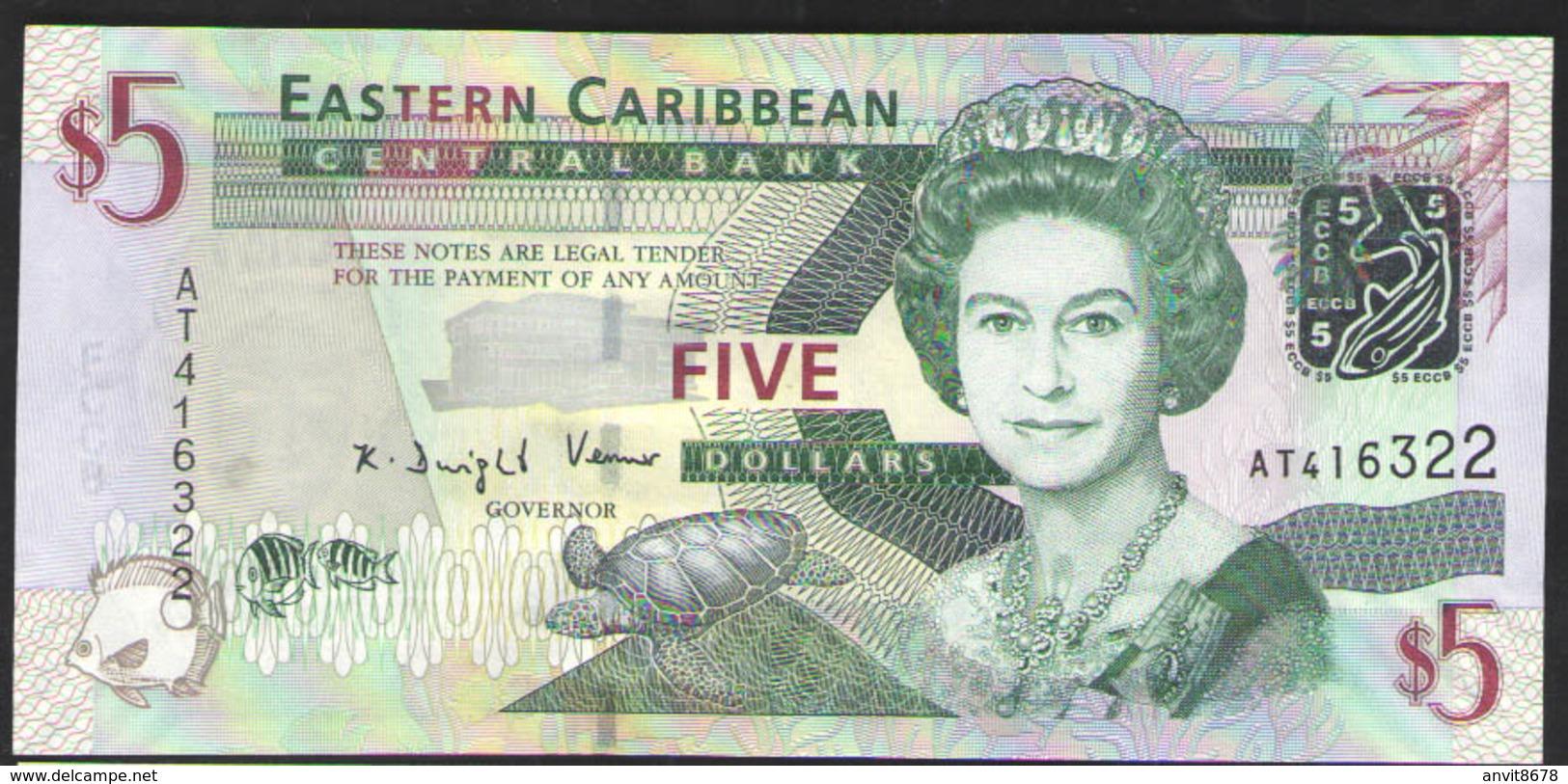ВОСТОЧНЫЕ  КАРИБЫ   5 $  2003г UNC - Caraïbes Orientales