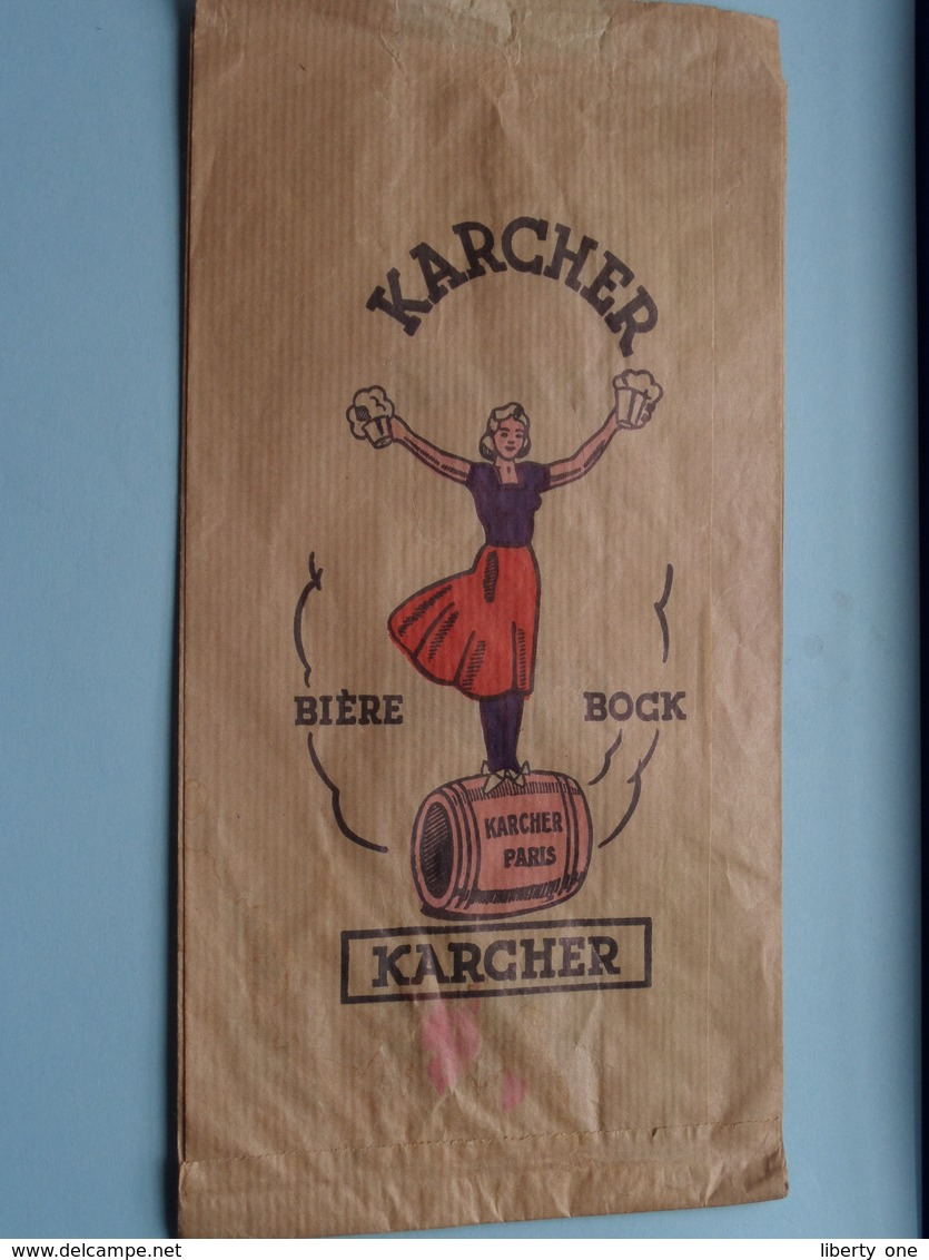 """Sac Papier KARCHER Bière - Bock / Karcher Paris / Bière De Grande Origine """" PILSKA """" ( Voir Photo Svp ) - Otras Colecciones"""