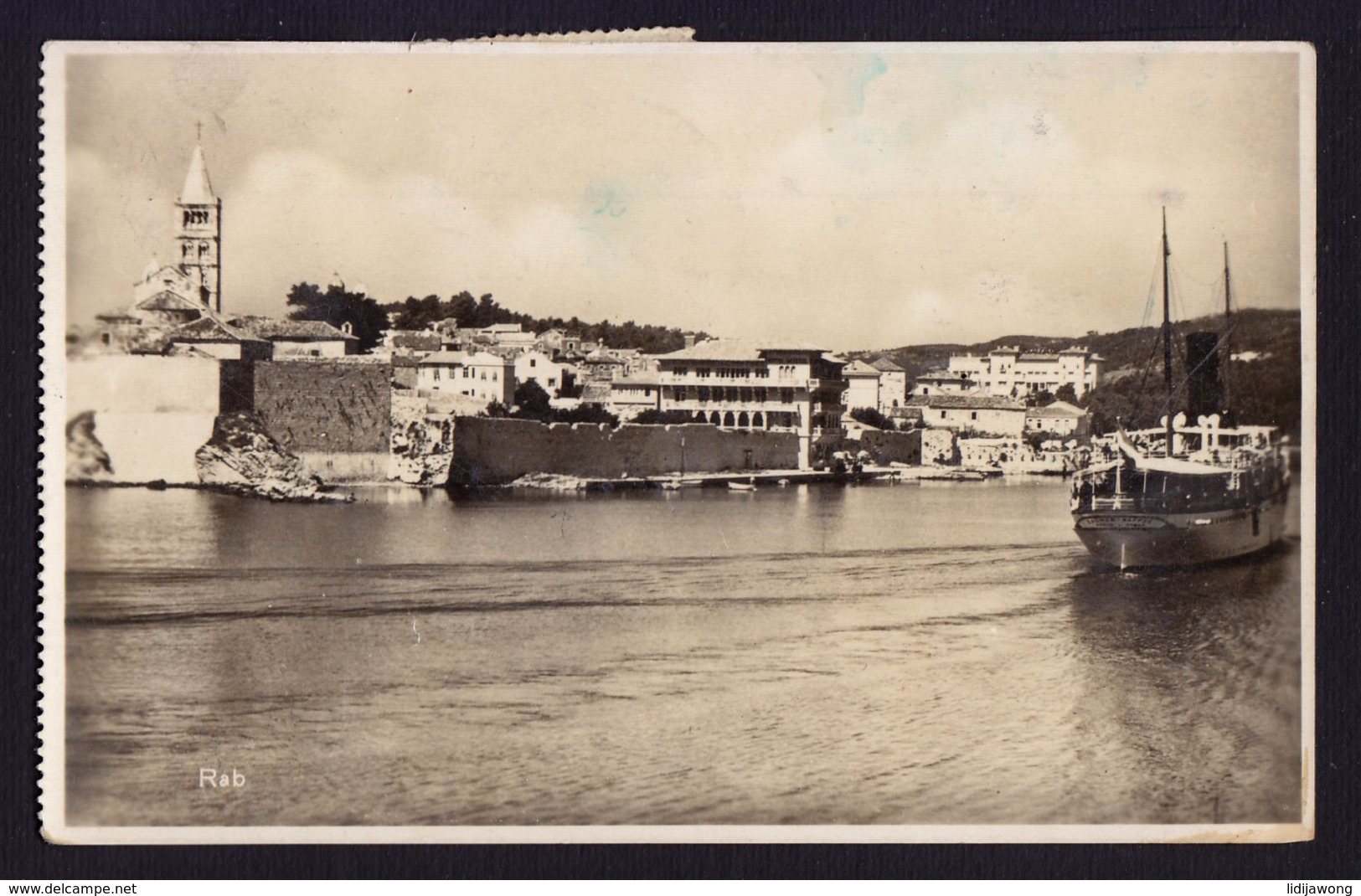 CROATIA RAB ARBE SHIP OLD POSTCARD  (see Sales Conditions) - Croatia
