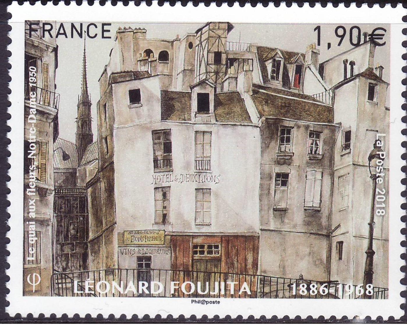 "FRANCE 2018 YT 5200 ""Leonard Foujita Le Quai Aux Fleurs Notre Dame 1950"" - Nuovi"