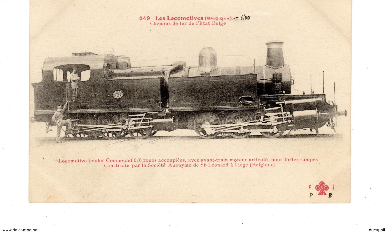 LES LOCOMOTIVES BELGES (ETAT) Locomotive Tender Construite Par La Société Anonyme De St Léonard à Liège Belgique. - Trains