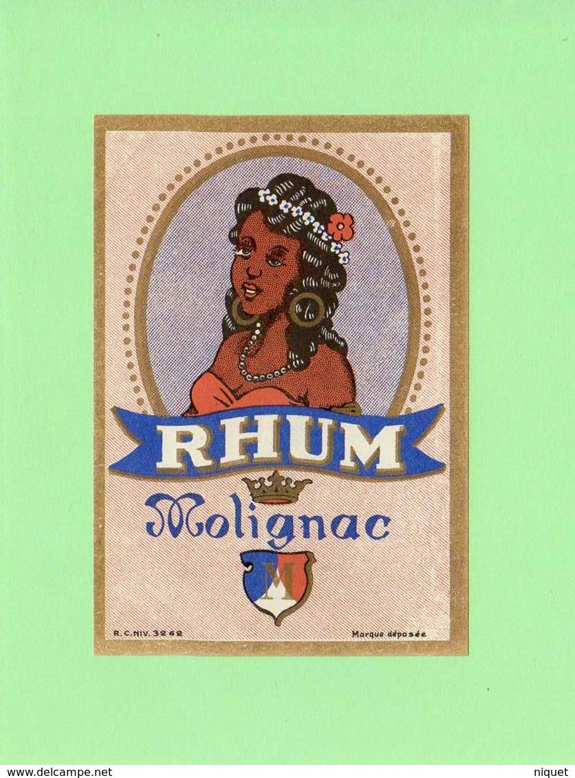 Etiquette Rhum Molignac - Rhum