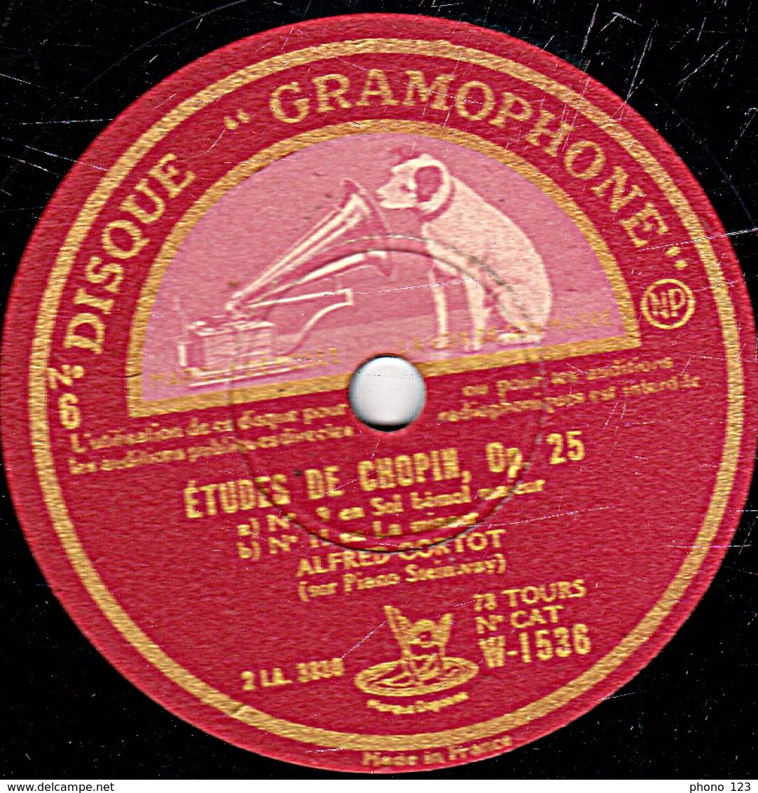 78 Trs - 30 Cm - état B - ETUDES N°7 En Do Dièse Mineur Op.25 - N°9 En Sol Bémol Majeur Et N°11 En La Mineur (Chopin) - 78 Rpm - Schellackplatten