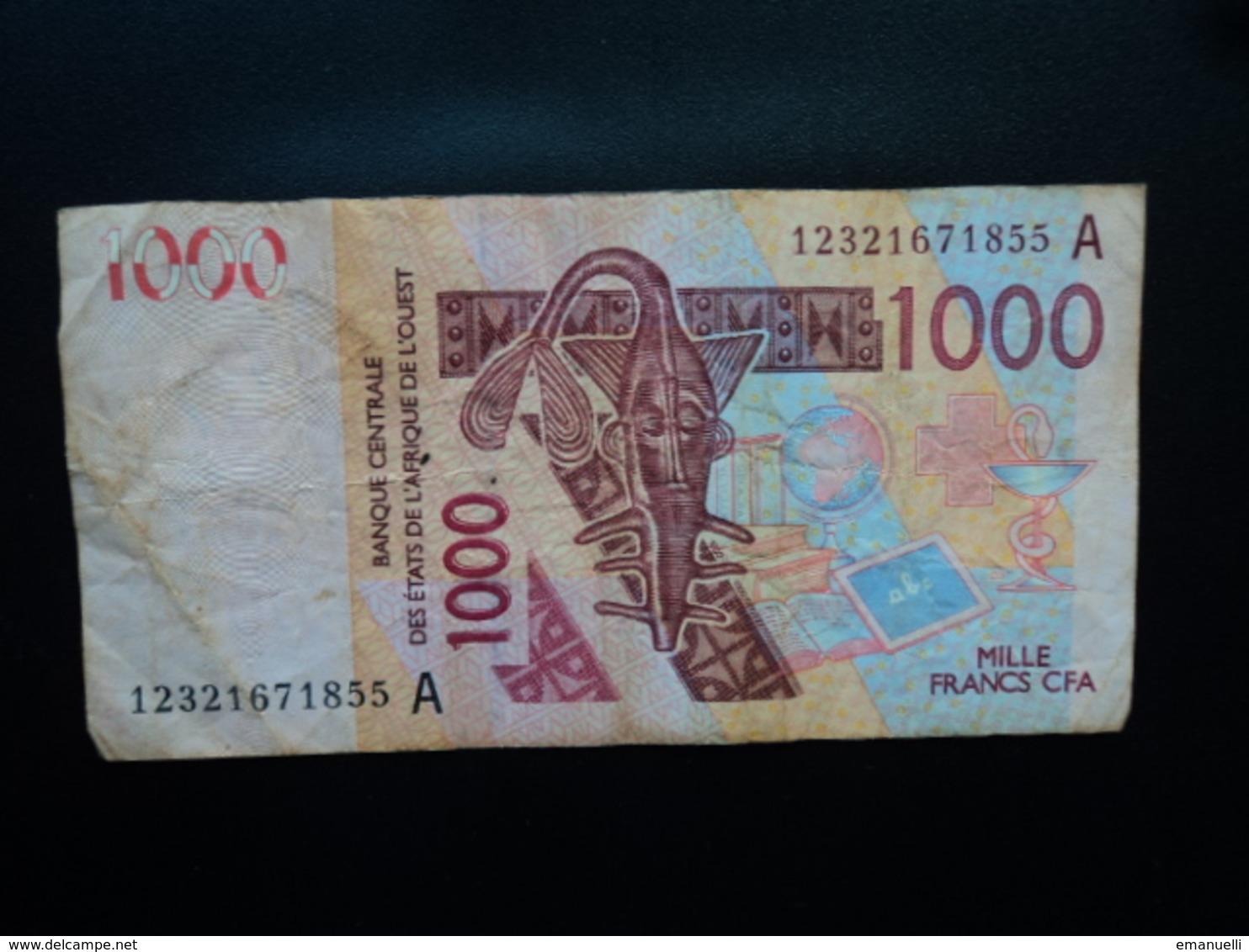 CÔTE D'IVOIRE : 1000 FRANCS  (20)12    P 115A     TTB - Côte D'Ivoire