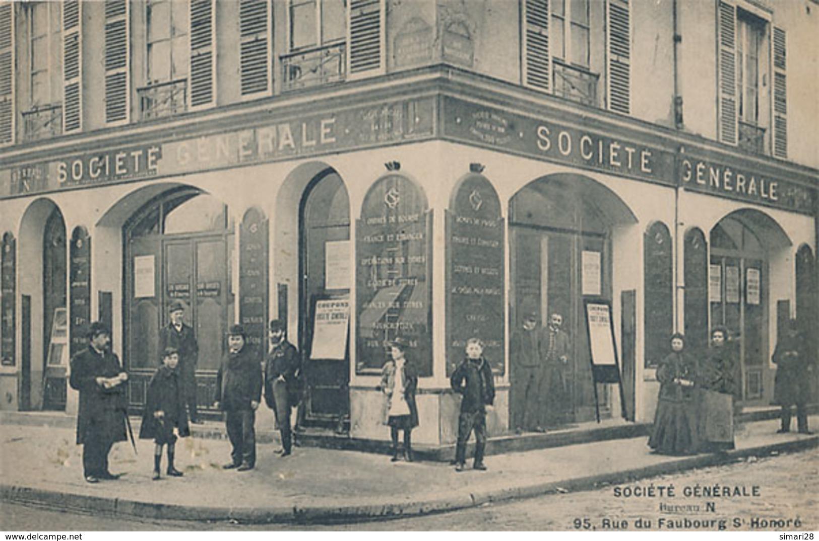 PARIS - SOCIETE GENERALE - BUREAU N - 95 RUE DU FAUBOURG ST HONORE - Paris (08)