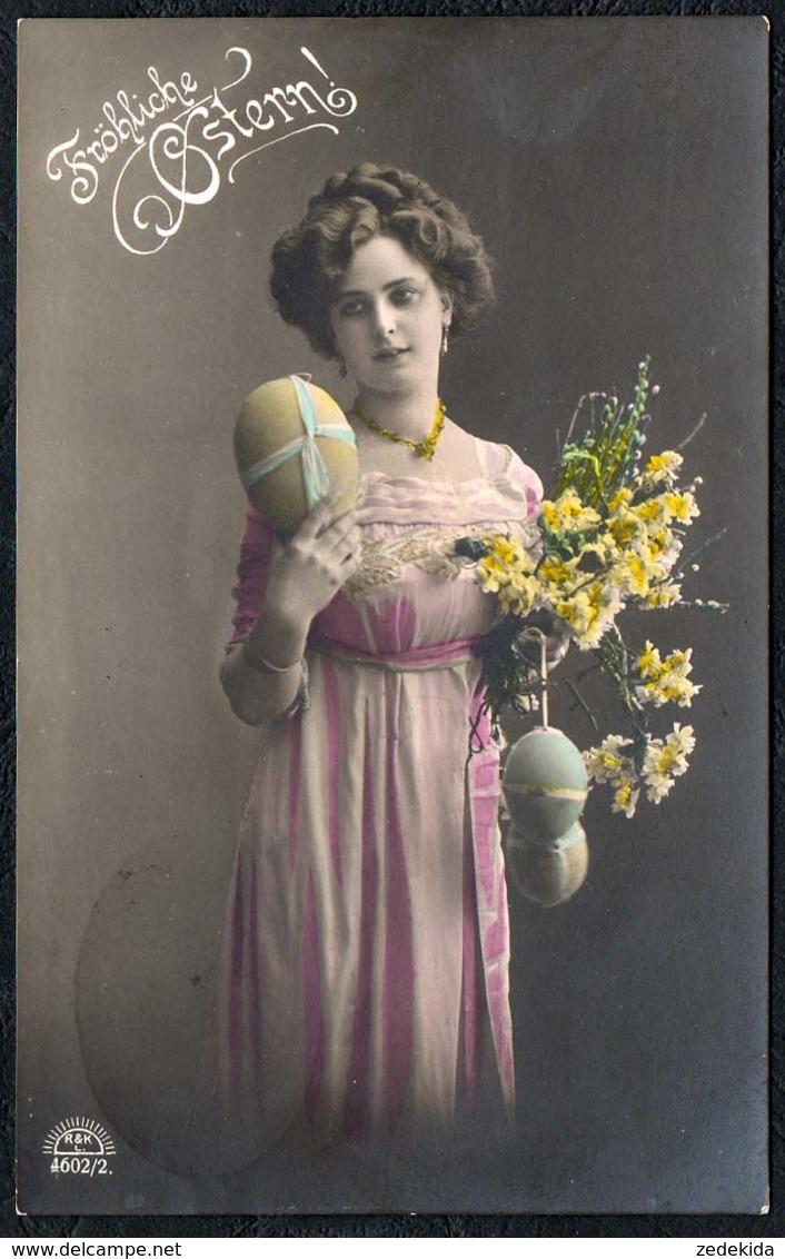 C0579 - Hübsche Junge Frau Im Kleid - Mode - Pretty Young Women - Coloriert - R&K L. - Bahnpost Bahnpoststempel Thum - Mode