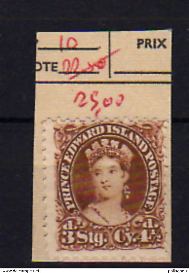 1864-69   Prince Edouard Island, Queen Victoria,10 Ssans Colle,  No Glue, Cote 80 €, - Prince Edward (Island)