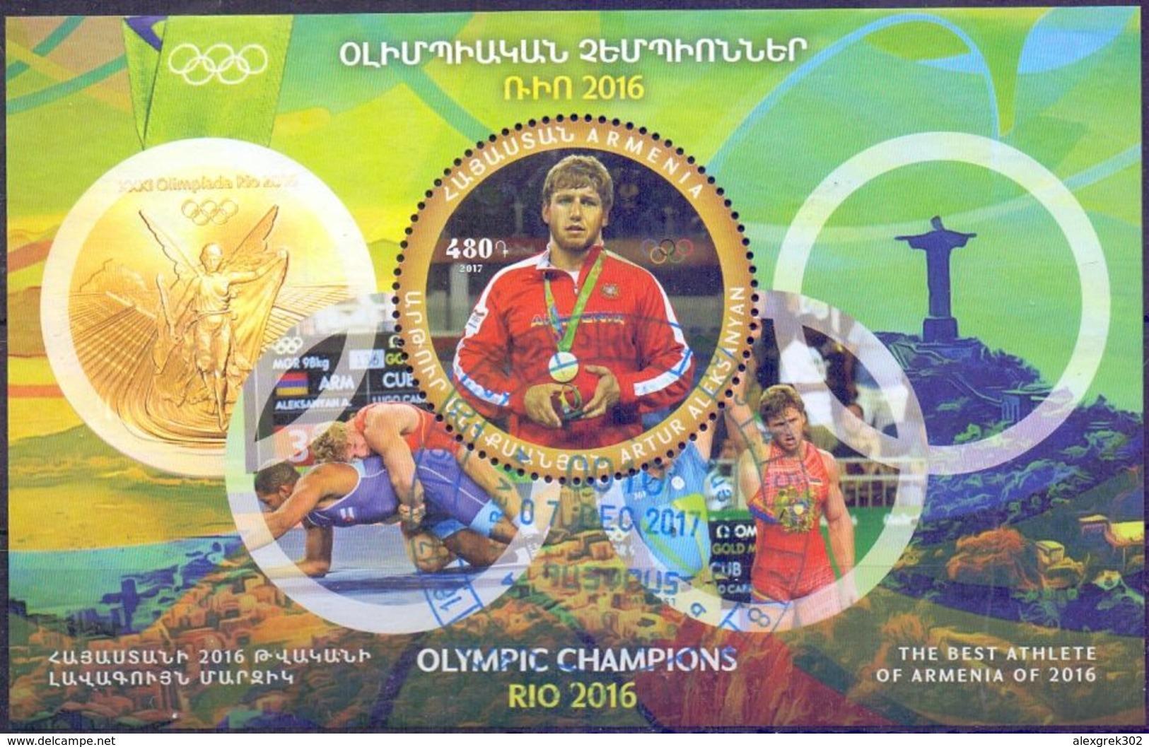 Used Armenia 2017, Rio 2016 Olympic Champion Artur Aleksanyan S/S. - Armenië