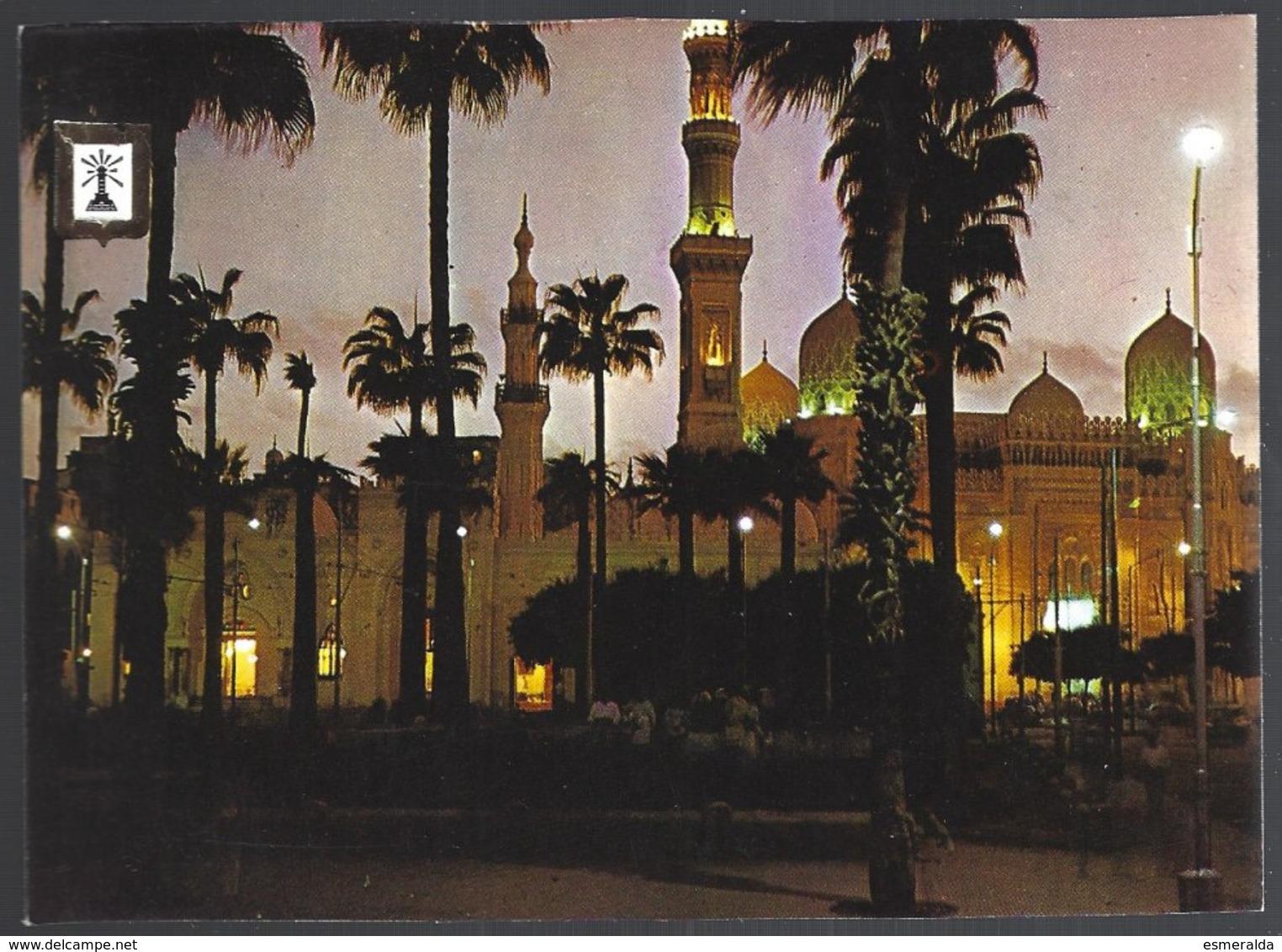 CP N°69-Egypt, Alexandrie-vue Nocturne De La Mosquée Abu El-Abbas - Islam