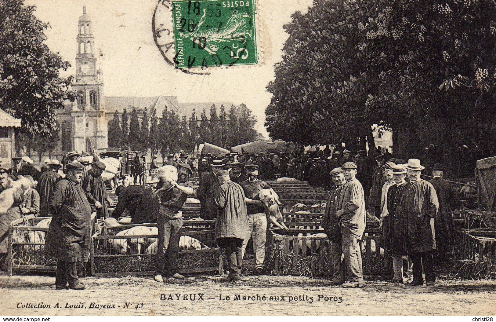 DPT 14 BAYEUX Le Marché Aux Petits Porcs - Bayeux