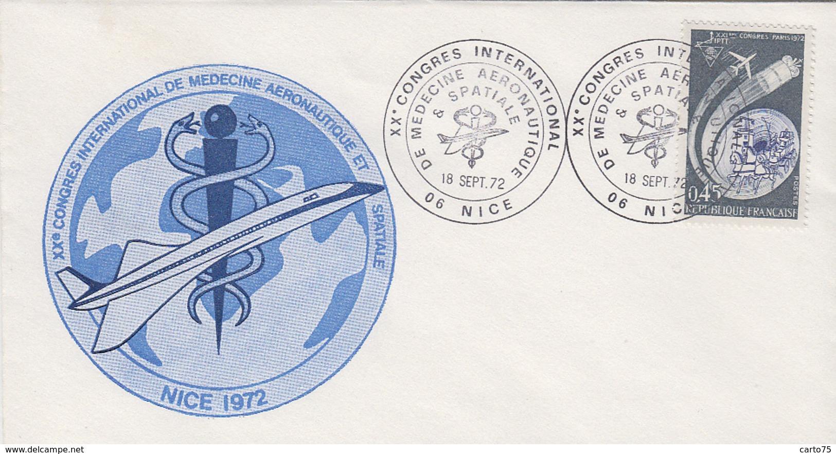 Timbre - Cachet XXè Congrès Médecine Aéronautique Nice - Avion Concorde Aviation - Santé Médecine - Aviones
