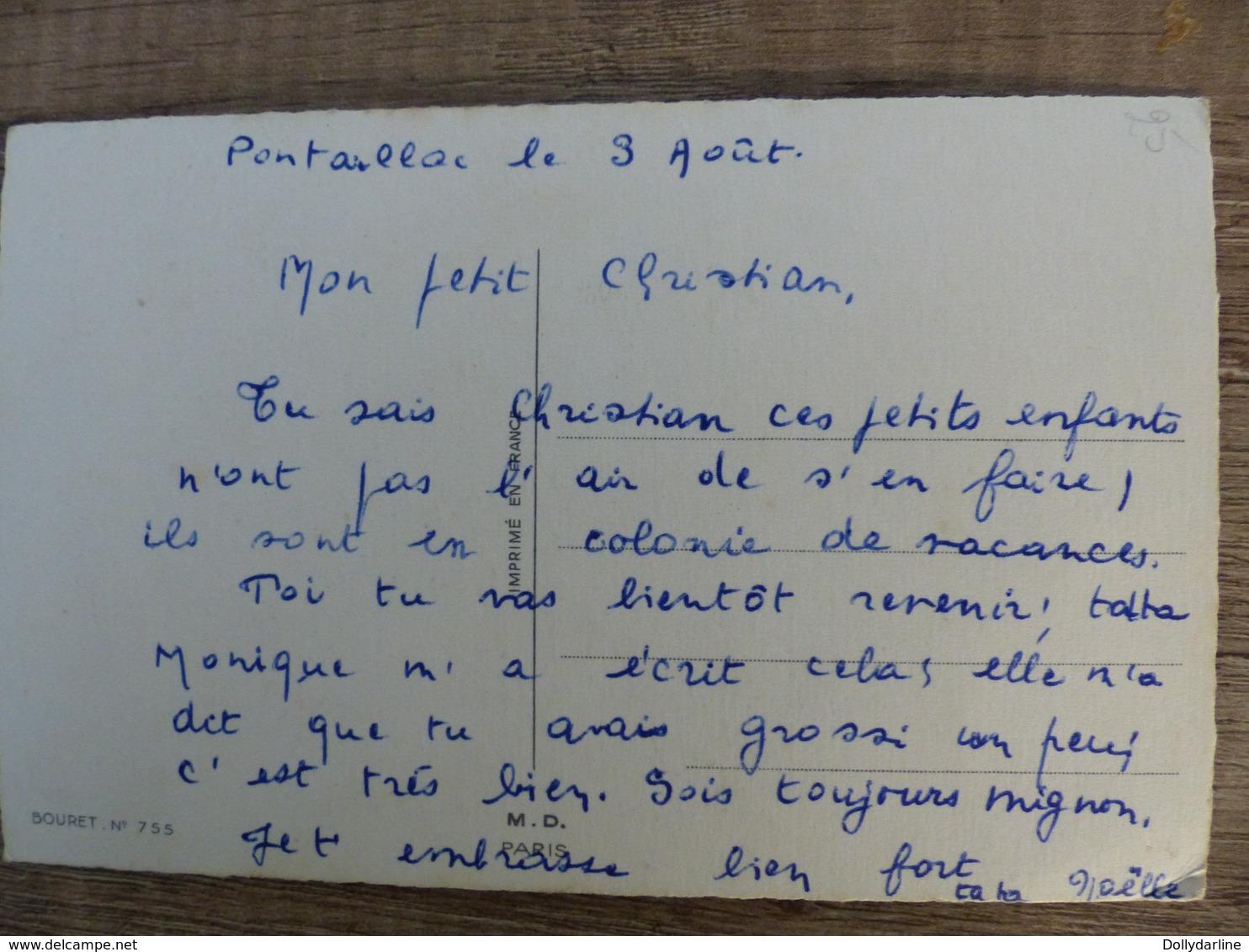 """Germaine BOURET  """"Moi Je Suis Pas D'accord Pour Qu'on Supprime Les Colonies De Vacances """"  Enfants Vaches Campagne - Bouret, Germaine"""