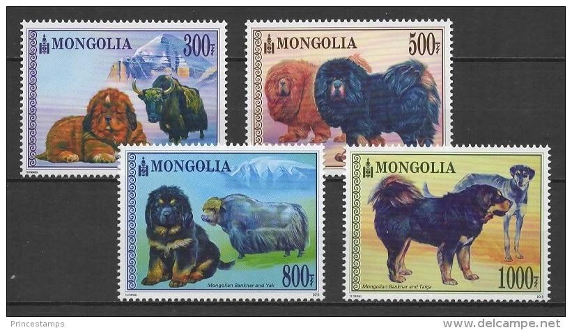 Mongolia (2015) - Set -   /  Perros - Dogs - Chiens - Hunde - Hunde