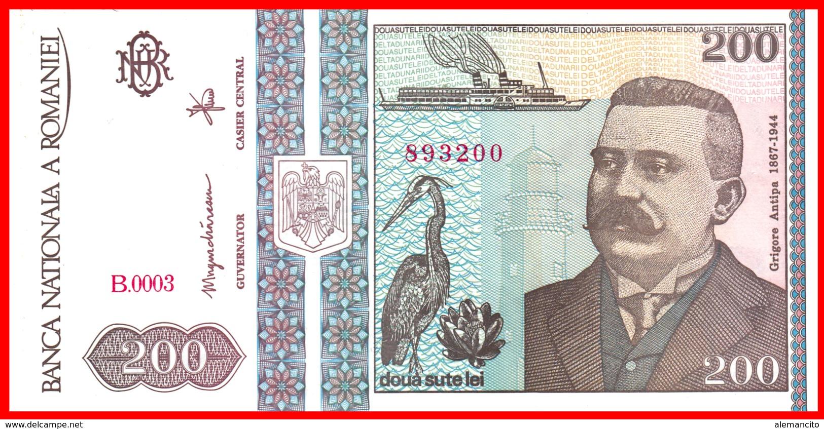 RUMANIA 200 LEI AÑO 1992 - Rumania
