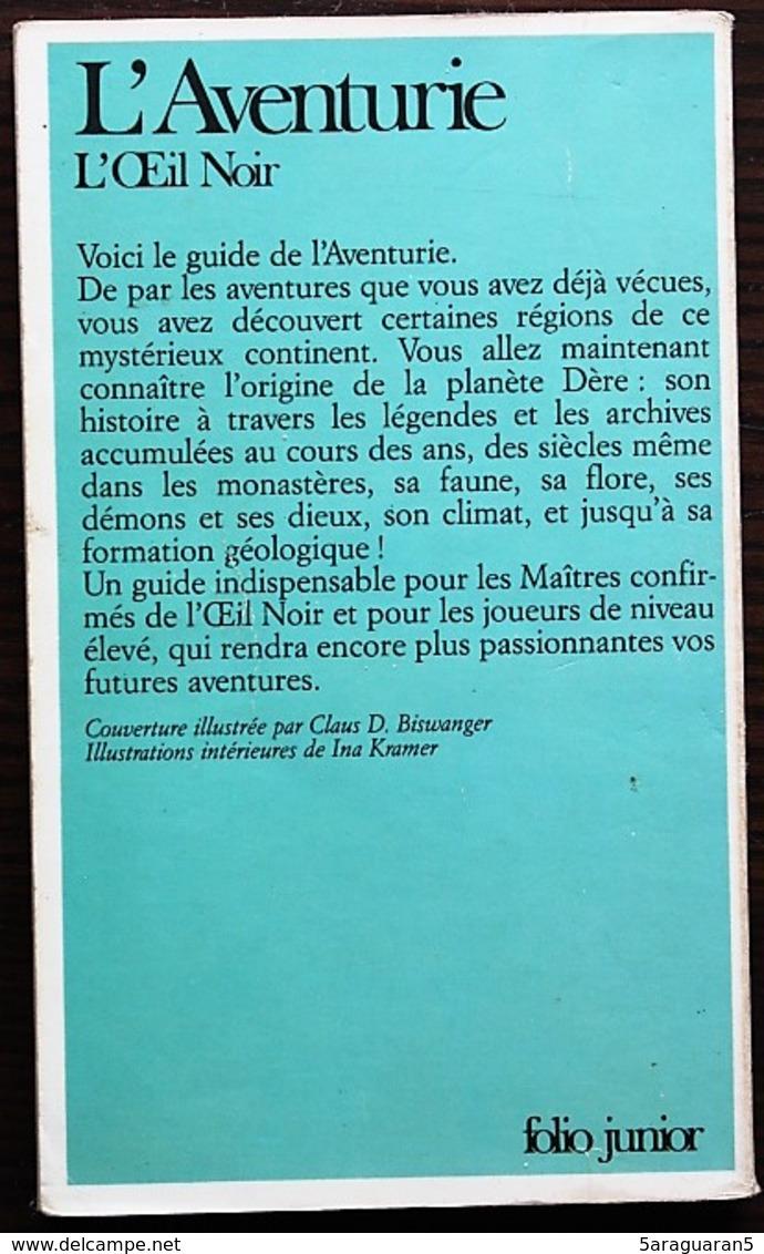 JEU DE ROLE - OEIL NOIR - L'Aventurie - Gallimard 1986 - Jeux De Société