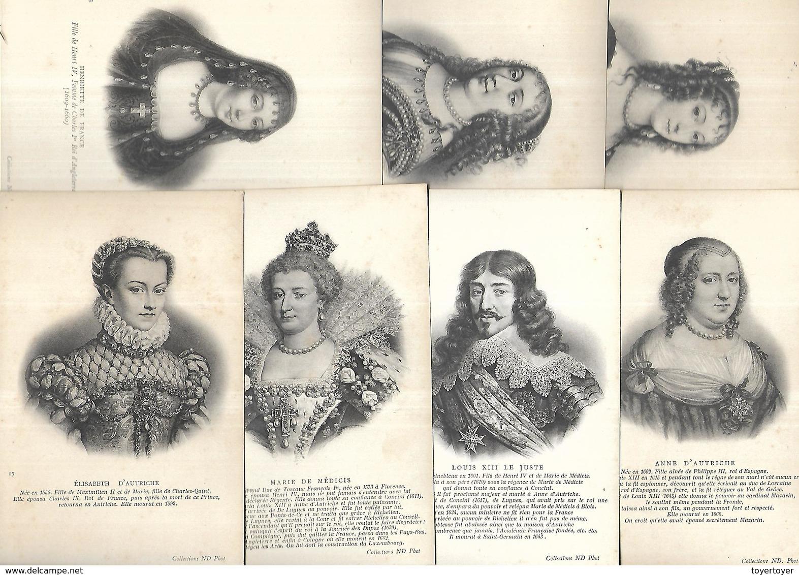 CP1019 Lot De 27 CPA Sur Les Rois Et Reines De France De 1371 à 1644 Neuves - France