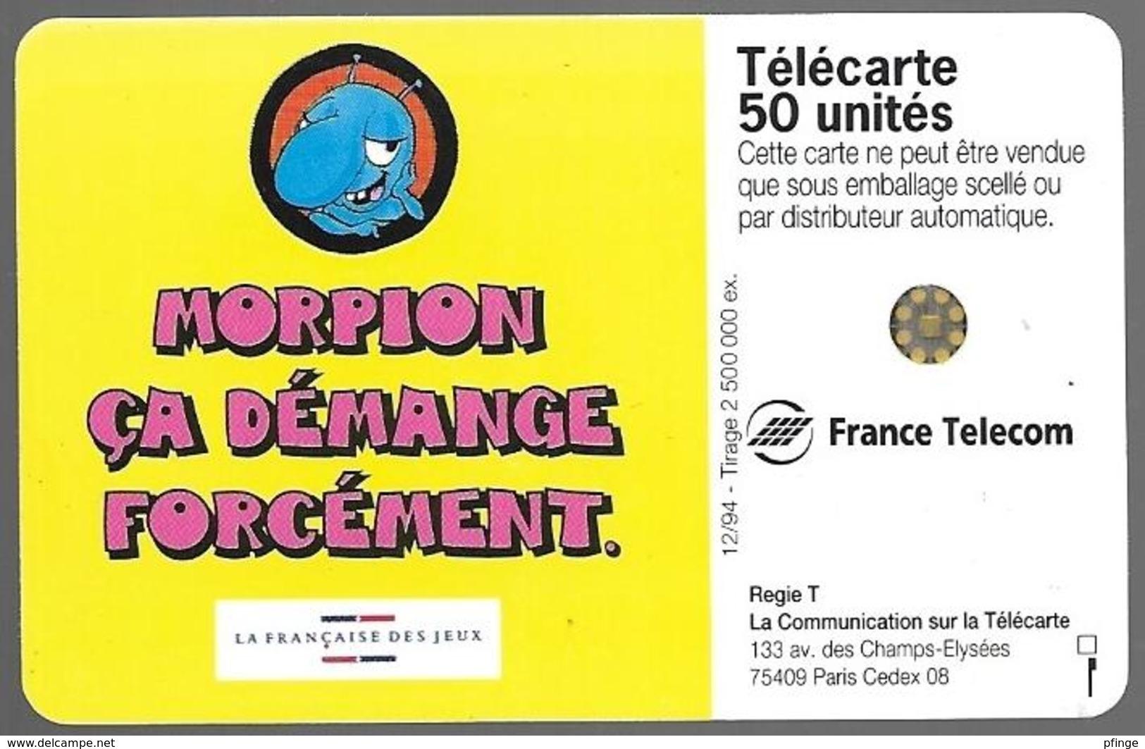 Telecarte 50 - Morpion - Jeux