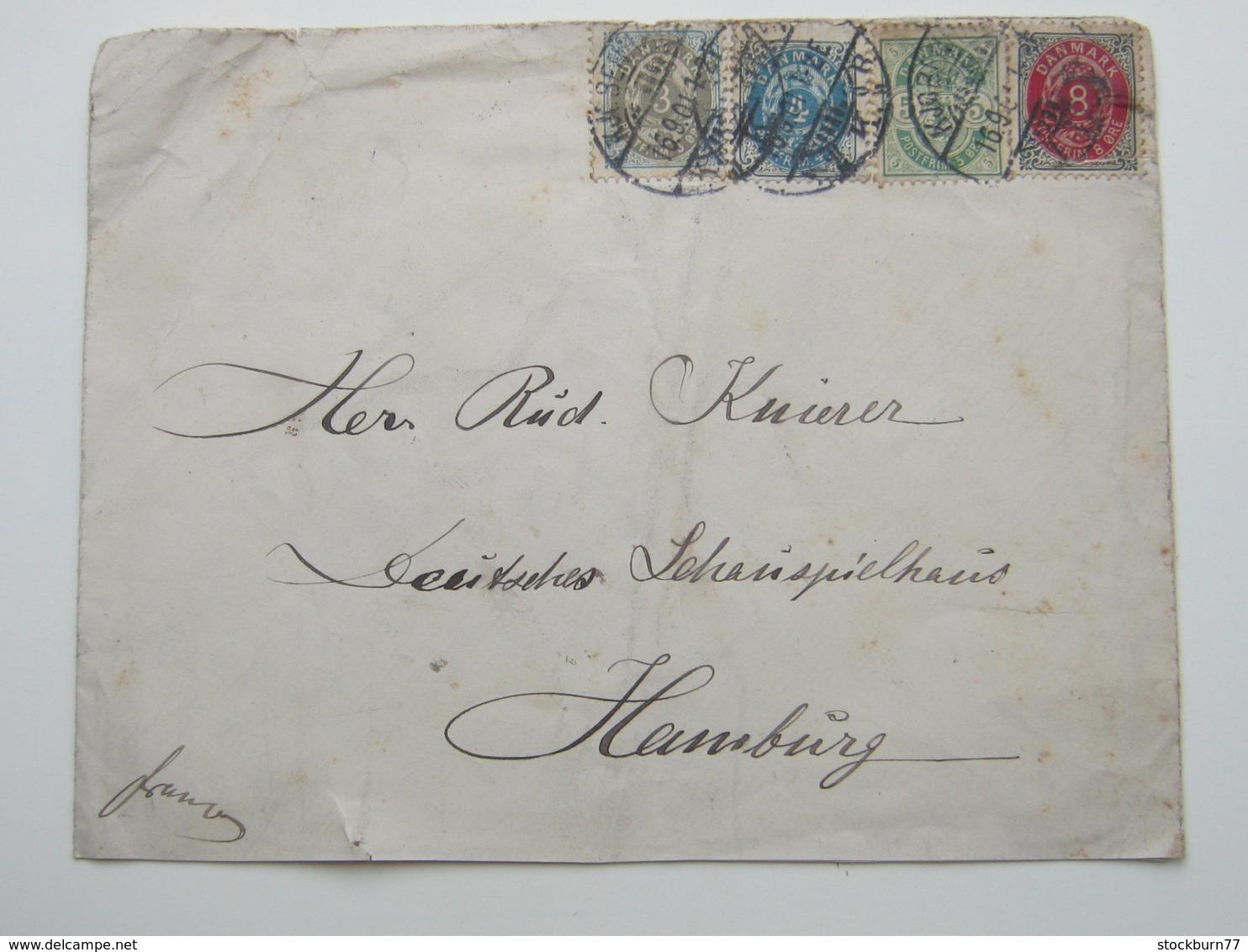 1901 , Brief Nach Hamburg - Briefe U. Dokumente