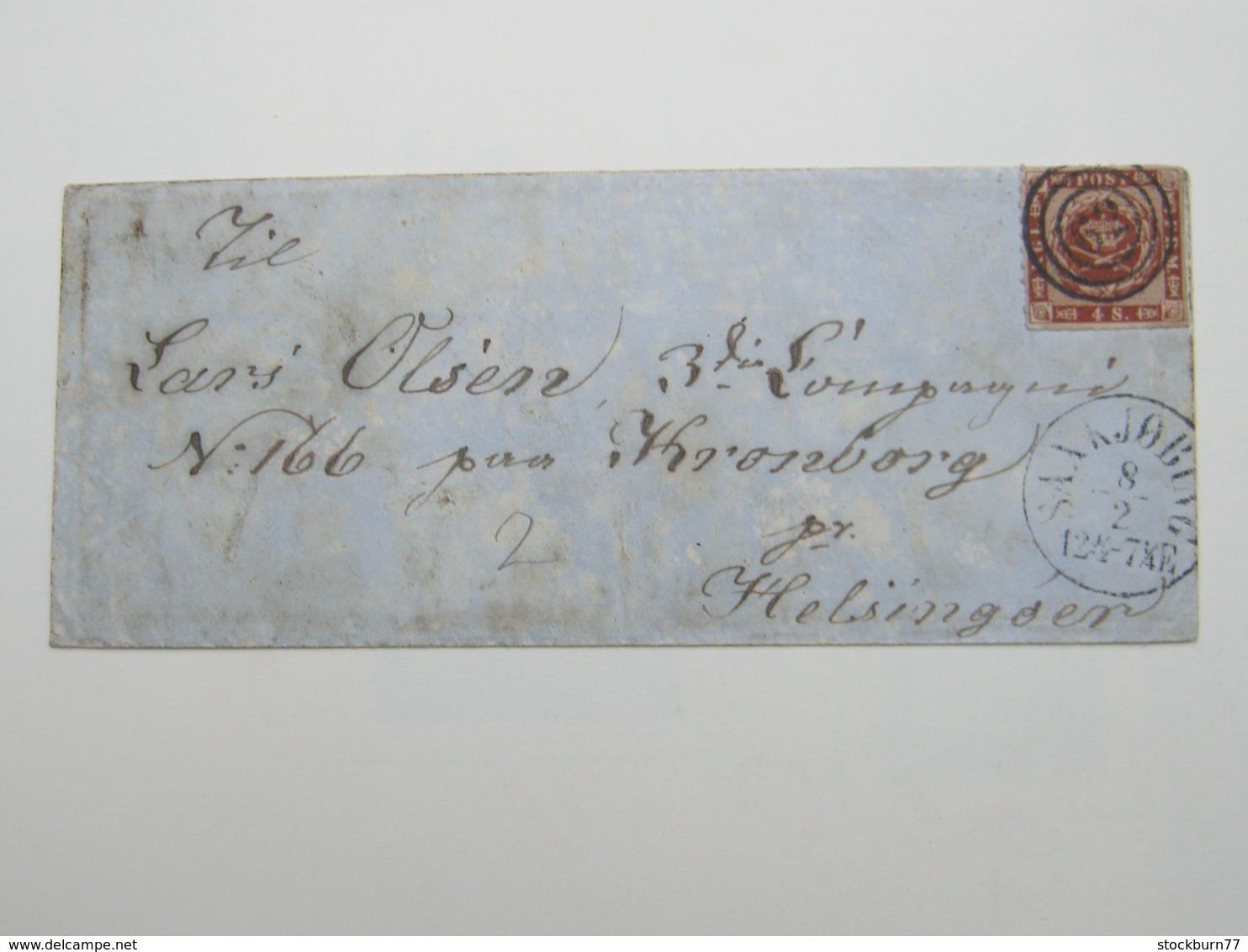 1864 , Brief Aus Saxkjöbing - 1851-63 (Frederik VII)