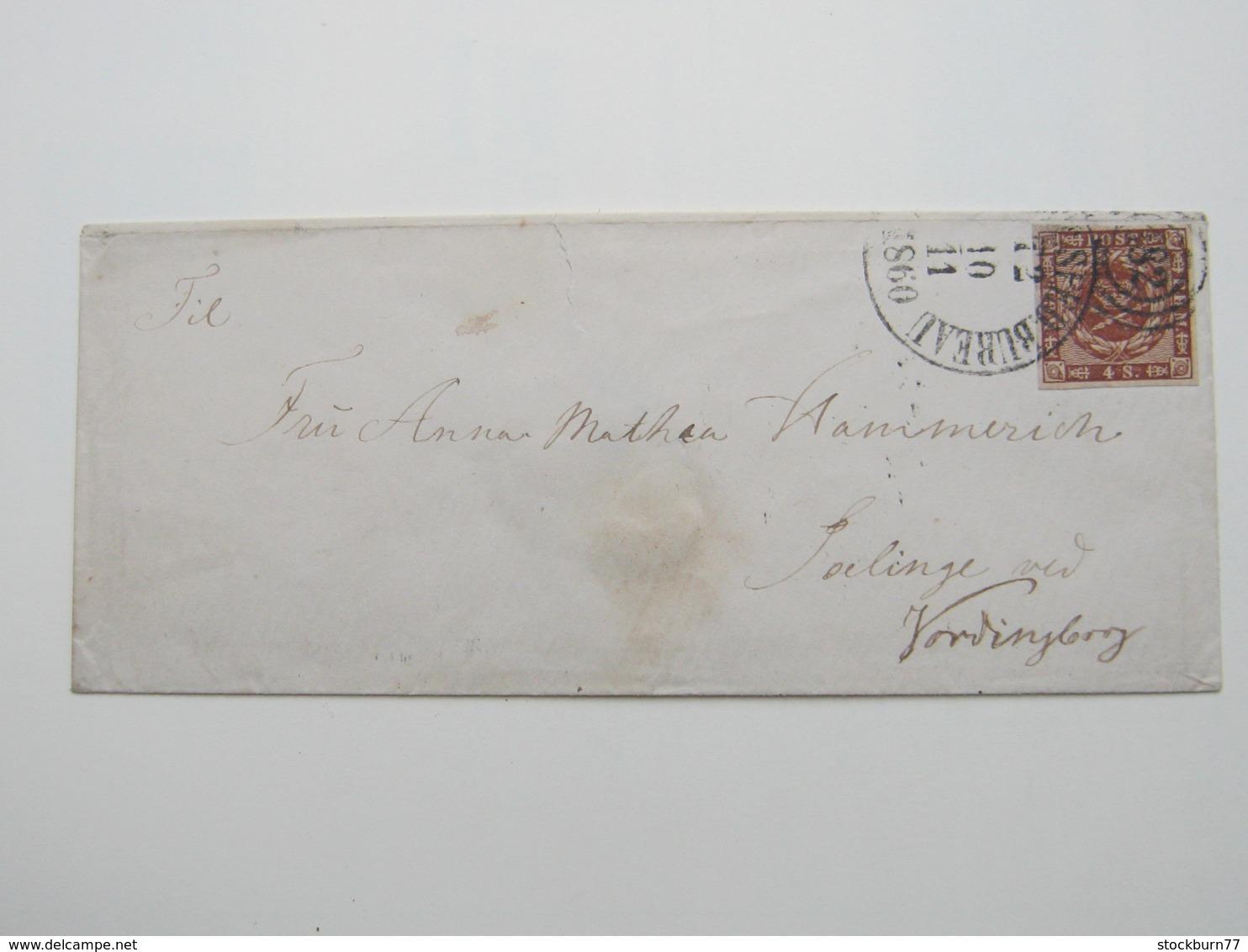 1860 , Brief Mit Nr.Stpl. 182 - 1851-63 (Frederik VII)