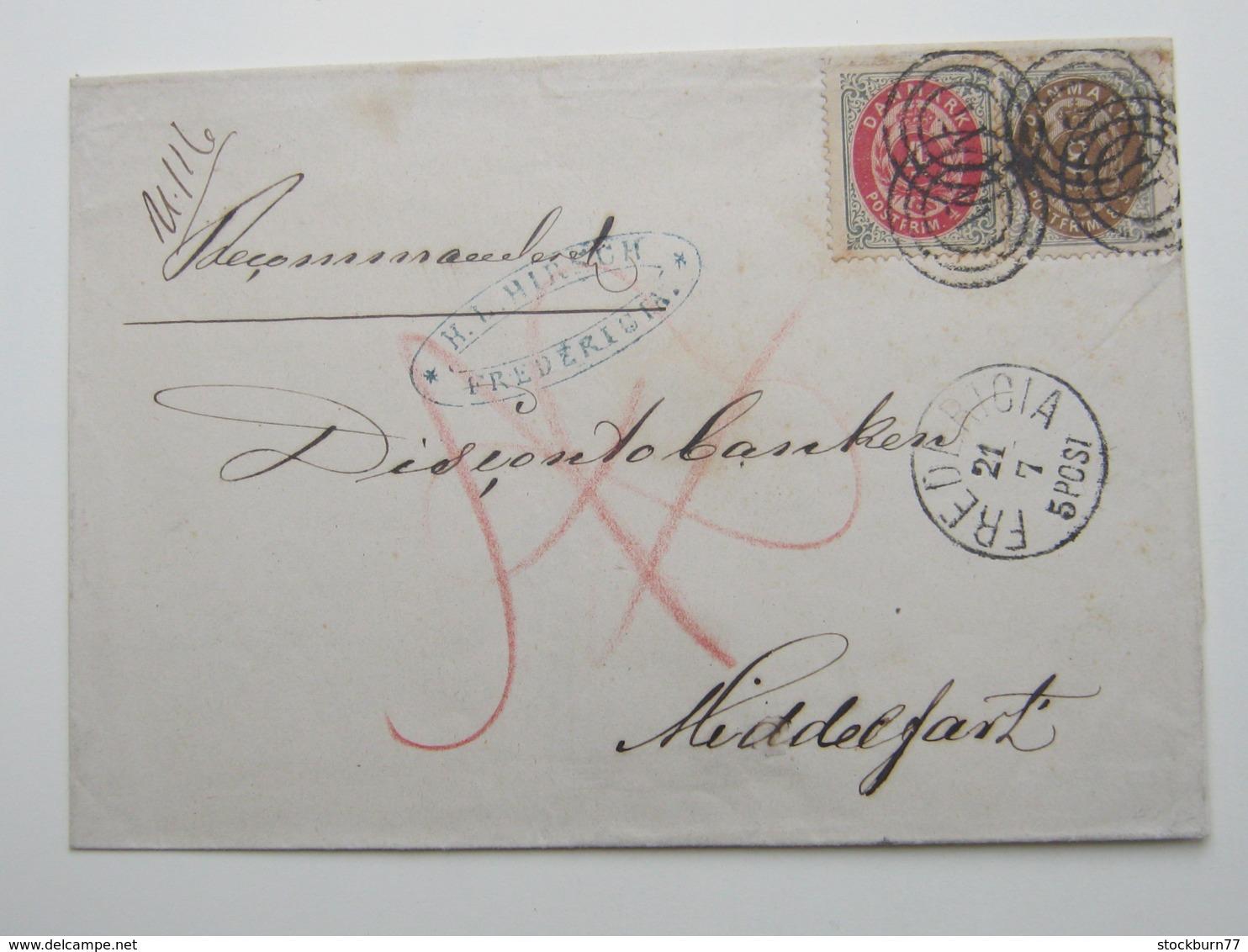 Einschreiben Aus Fredericia - 1851-63 (Frederik VII)