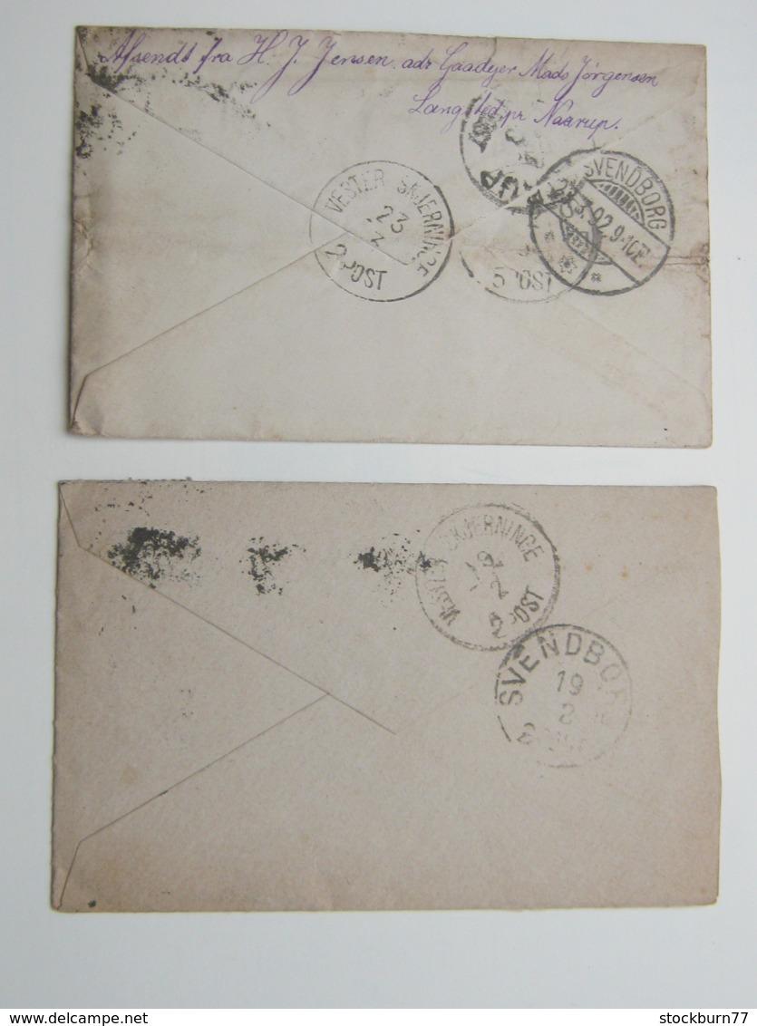 1892 , 2 Briefe , 1 Mal Nach Deutschland Nachgeschickt - Briefe U. Dokumente
