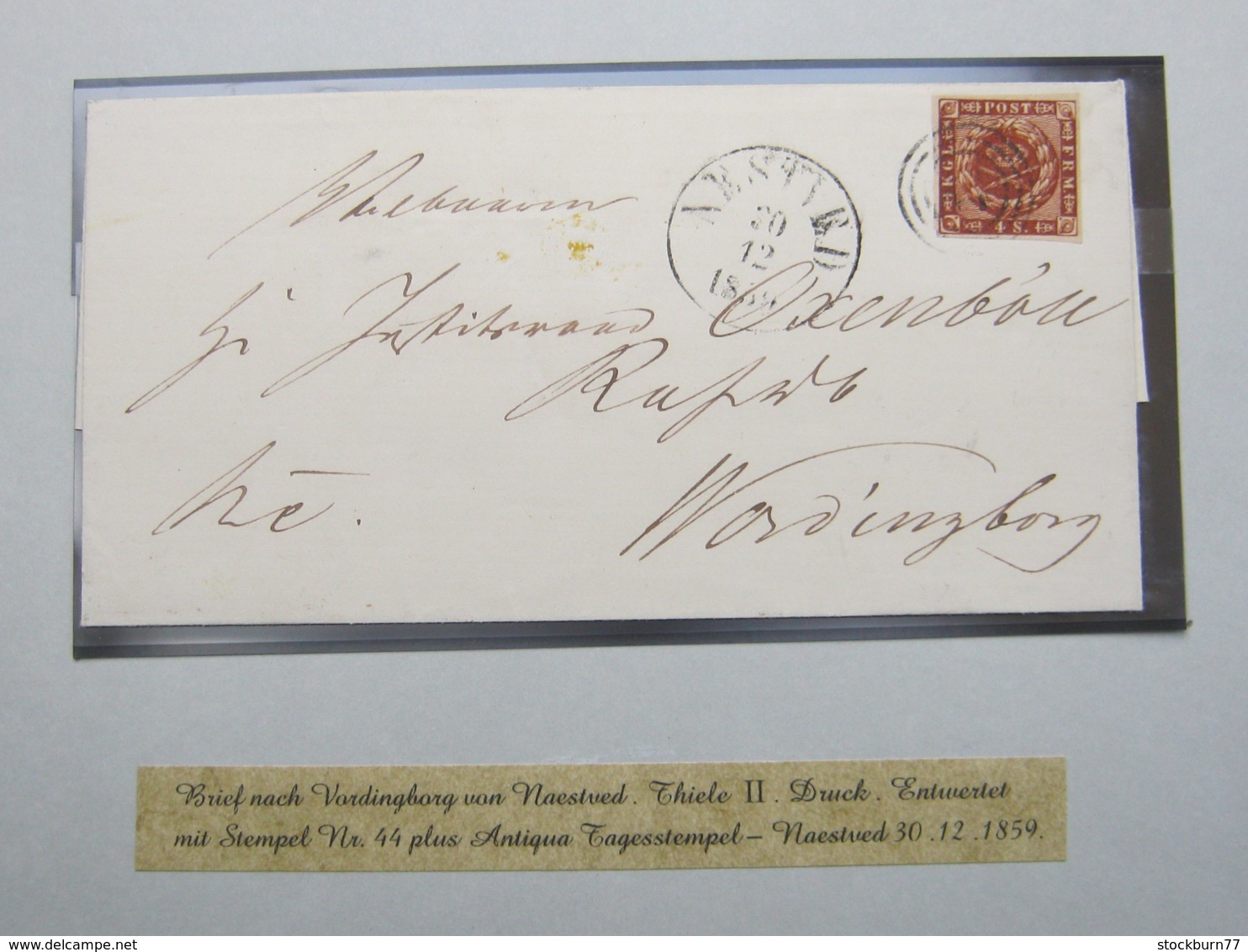 1859 , Brief Aus Naestved , Nr.Stempel 44 - 1851-63 (Frederik VII)